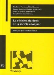 Dernières parutions dans Cedidac, La révision du droit de la société anonyme