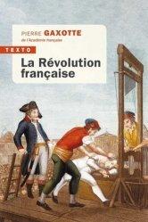 Dernières parutions dans Texto, La révolution française