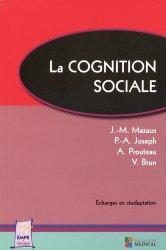 Dernières parutions sur Rééducation, La cognition sociale