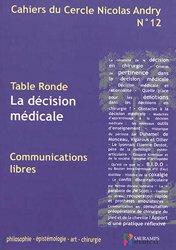 Dernières parutions sur Sociologie et philosophie médicale, La décision médicale