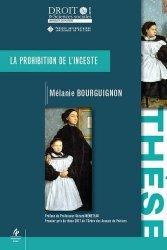 Dernières parutions dans Faculté de Droit et des Sciences sociales, La prohibition de l'inceste