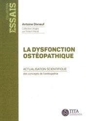 Dernières parutions sur Théories et concepts, La dysfonction ostéopathique