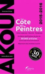 Nouvelle édition La cote des peintres. Edition 2015-2016