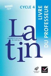 Dernières parutions sur Méthodes de langue (Scolaire), LCA Latin Cycle 4 (2017) : Livre du Professeur