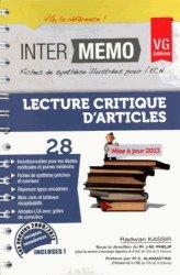 Dernières parutions dans Inter-mémo, LCA Lecture critique d'article