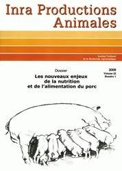 Dernières parutions dans Productions animales, Les nouveaux enjeux de la nutrition et de l'alimentation du porc