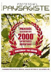 Dernières parutions sur Paysagiste, Le palmarès des 2000 premières entreprises du paysage