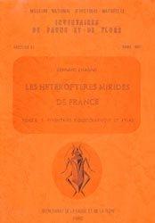 Dernières parutions sur Hémiptères, Les hétéroptères Mirides de France Tome 2 B : inventaire biogéographique et atlas