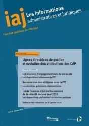 Dernières parutions sur Fonction publique, Les informations administratives et juridiques N° 1/2020 : Lignes directrices de gestion et évolution des attributions des CAP