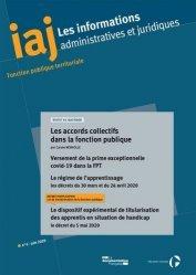 Dernières parutions sur Fonction publique, Les informations administratives et juridiques N° 6/2020