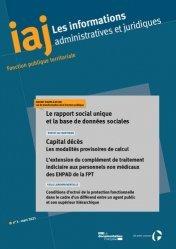 Dernières parutions sur Fonction publique, Le rapport social unique et la base de données sociales