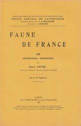 Dernières parutions dans Faune de France, Lépidoptères Homoneures