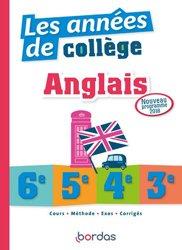 Dernières parutions sur 3e, Les années de collège anglais 6e, 5e, 4e, 3e