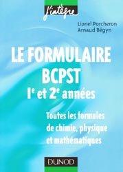 Souvent acheté avec Mathématiques BCPST-Véto 2e année, le Le formulaire BCPST 1ère et 2ème années
