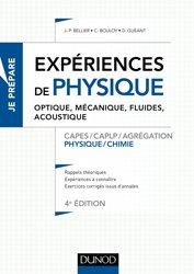 Souvent acheté avec Expériences de chimie -Capes/Agrégation de sciences physiques, le Les expériences de physique - Optique, mécanique, fluides, transferts thermiques