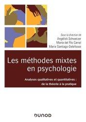 Dernières parutions sur Psychologie, Les méthodes mixtes en psychologie