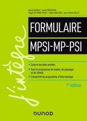 Dernières parutions dans J'intègre, Le formulaire MPSI-MP-PSI