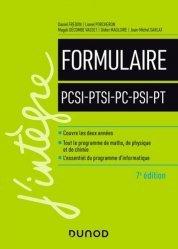 Dernières parutions sur 2ème année, Le Formulaire PCSI-PTSI-PC-PSI-PT