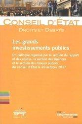 Dernières parutions sur Finances publiques, Les grands investissements publics
