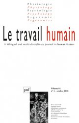 Dernières parutions sur Médecine du travail, Le travail humain vol. 81 N° 4