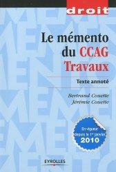 Dernières parutions dans Droit et Sciences politiques, Le mémento du CCAG  Travaux