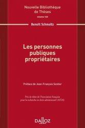 Dernières parutions sur Domaine public expropriation, Les personnes publiques propriétaires