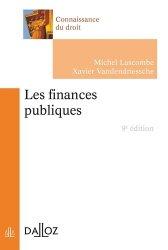 Dernières parutions dans Connaissance du droit, Les finances publiques. 9e édition
