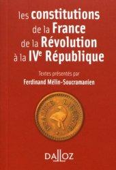 Dernières parutions sur Constitution, Les constitutions de la France de la Révolution à la IVe République