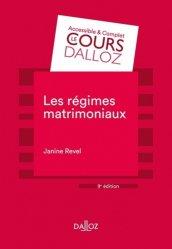 Dernières parutions dans Cours Dalloz, Les régimes matrimoniaux. 9e édition