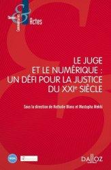 Dernières parutions sur Institutions judiciaires, Le juge et le numérique : un défi pour la justice du XXIe siècle