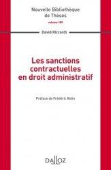 Dernières parutions dans Nouvelle Bibliothèque Thèses, Les sanctions contractuelles en droit administratif
