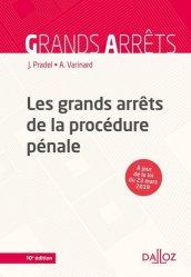 Dernières parutions sur Procédure pénale, Les grands arrêts de la procédure pénale. 10e édition