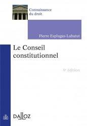 Dernières parutions dans Connaissance du droit, Le conseil constitutionnel
