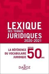 Dernières parutions sur Lexiques et dictionnaires, Lexique des termes juridiques