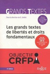 Dernières parutions sur Droits de l'homme, Les grands textes de libertés et droits fondamentaux