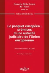 Dernières parutions sur Droit communautaire, Le parquet européen