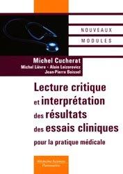 Souvent acheté avec Statistiques - épidemiologie, le Lecture critique et interprétation des résultats des essais cliniques pour la pratique médicale