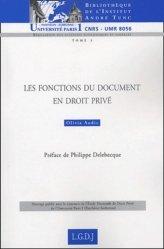 Dernières parutions dans Bibliothèque Institut Tunc, Les fonctions du document en droit privé