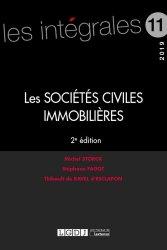 Dernières parutions dans Les intégrales, Les sociétés civiles immobilières. Edition 2019