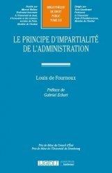 Dernières parutions sur Droit administratif général, Le principe de l'impartialité de l'administration