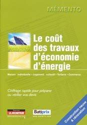 Dernières parutions dans Mémento, Le coût des travaux d'économie d'énergie