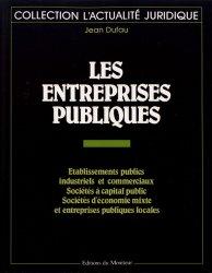 Dernières parutions dans L'actualité juridique, Les entreprises publiques
