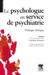 Dernières parutions dans Psychologie, Le psychologue en service de psychiatrie