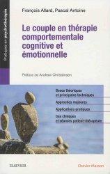Dernières parutions sur Thérapies familiales, Le couple en thérapie comportementale, cognitive et émotionnelle