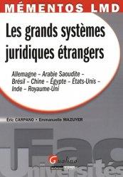 Dernières parutions dans Fac Universités : Mémentos LMD, Les systèmes juridiques étrangers