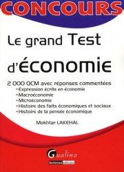 Dernières parutions dans Concours, Le grand Test d'économie