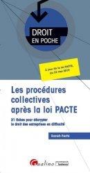 Dernières parutions dans Droit en poche, Les procédures collectives après la loi PACTE