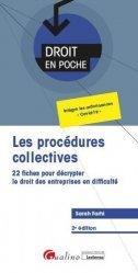 Dernières parutions dans Droit en poche, Les procédures collectives
