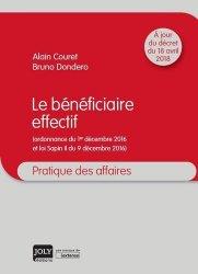 Dernières parutions dans Pratique des affaires, Le bénéficiaire effectif majbook ème édition, majbook 1ère édition, livre ecn major, livre ecn, fiche ecn