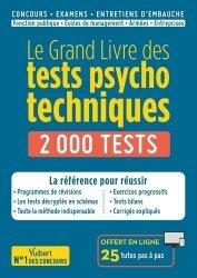 Dernières parutions sur Concours administratifs, Le Grand Livre des tests psychotechniques